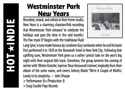 Westminster Park review in Scene Magazine